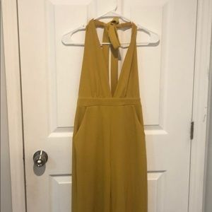 Yellow forever21 jumpsuit